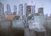 """City of glass I"", view from a studio in Emily Carr"